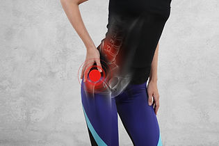 Woman with hip joint pain. Sport exercis