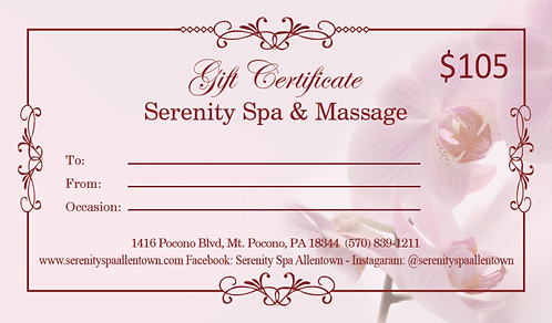 $105 Gift Certificate