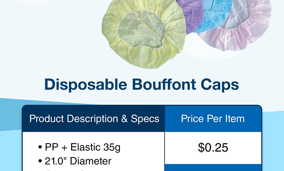 Disposable Bouffant Cap (Non-Sterile)