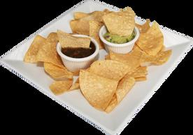 Chips c/ guacomole & salsa Baja