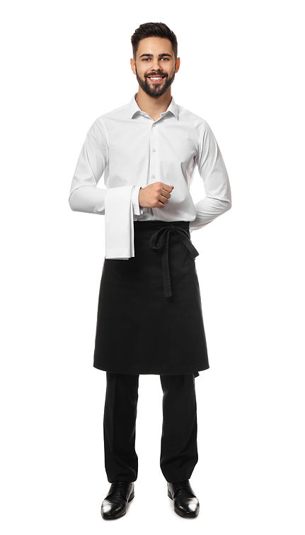 Handsome waiter on white background.jpg