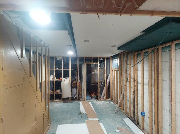 basement before renovation