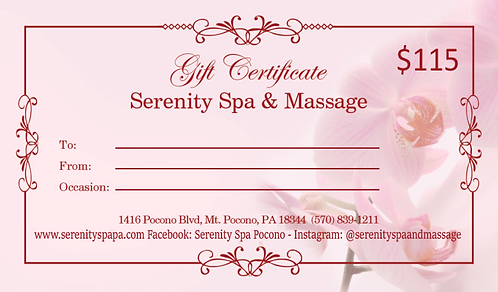 $115 Gift Certificate