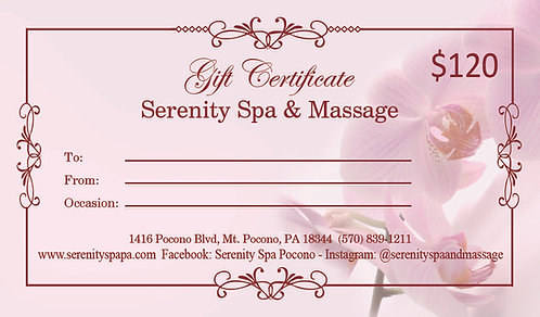 $120 Gift Certificate