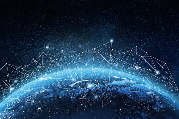 Global network concept. 3D rendering elements of this image furnished by NASA.jpg