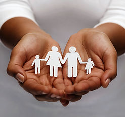 life insurance, love and charity concept
