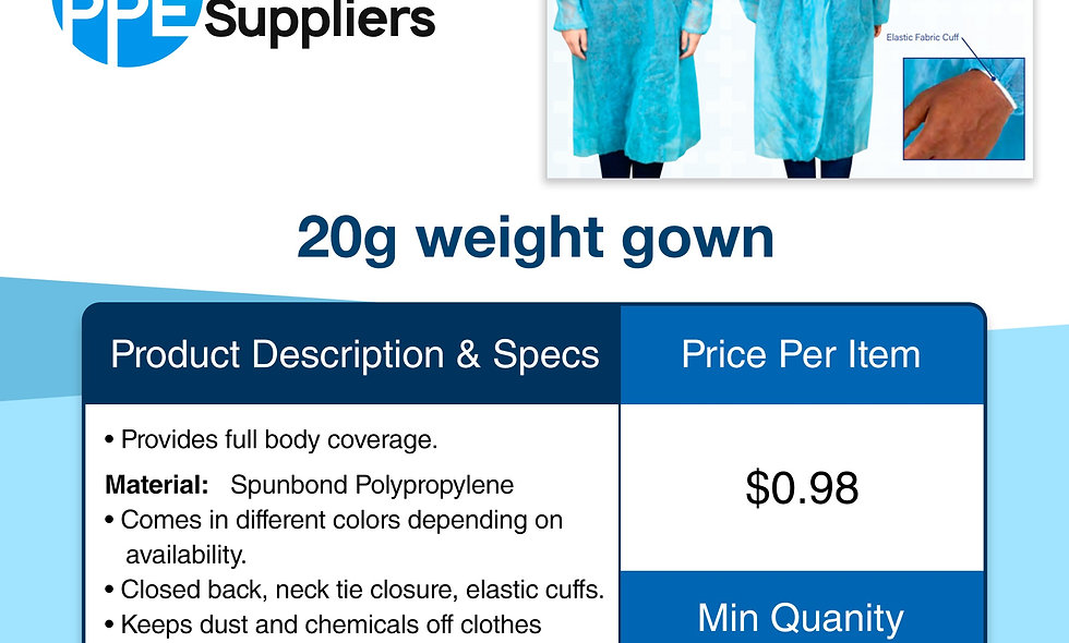 20g Weight Gown