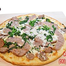 Sausage & Broccoli Rabe Pizza