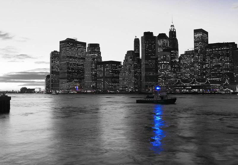Harbor patrol boat in New York City