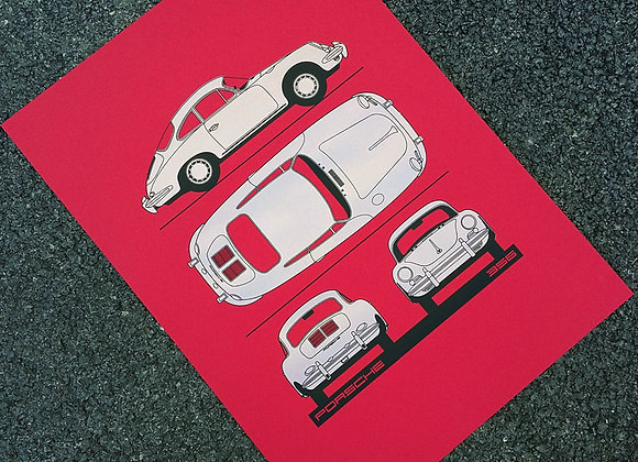 Porsche 356_Blue Print