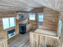 Cabane à pêche en bois de cèdre