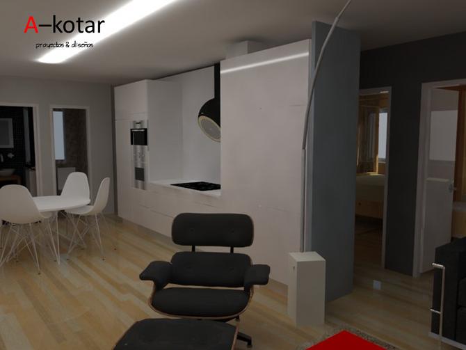 Propuesta de reforma para piso en A Coruña