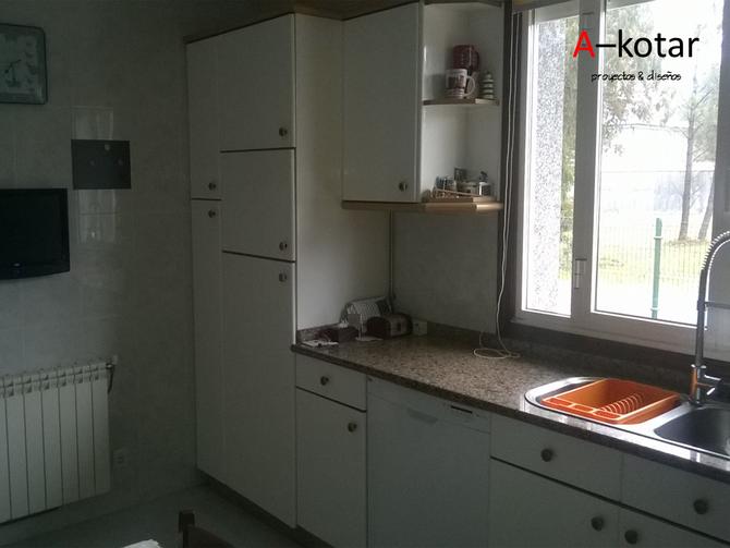 Renovación de cocina desfasada a nueva cocina moderna y luminosa