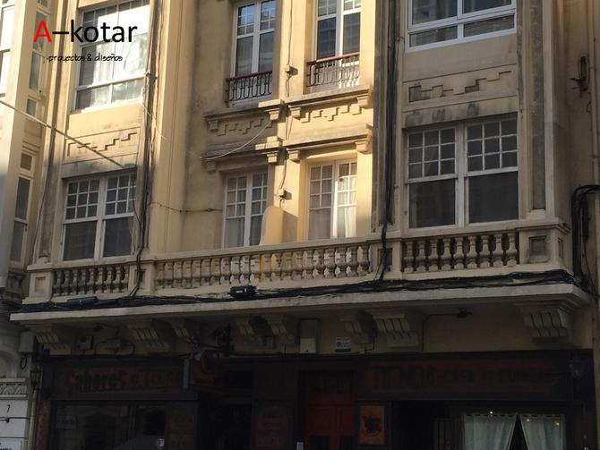 Antes y después de un piso en el centro de A Coruña