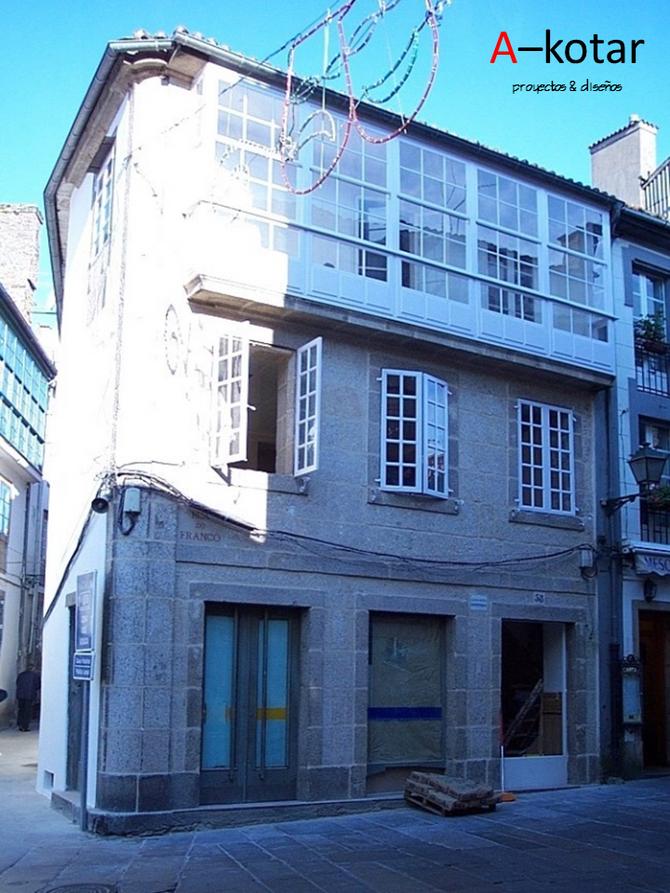 Rehabilitación de edificio en la capital de Galicia