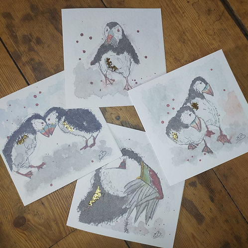 Puffin Cards (Set of 4)