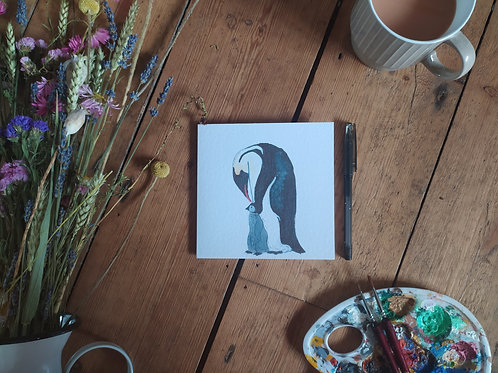 Mothers Day  Card - Penguin