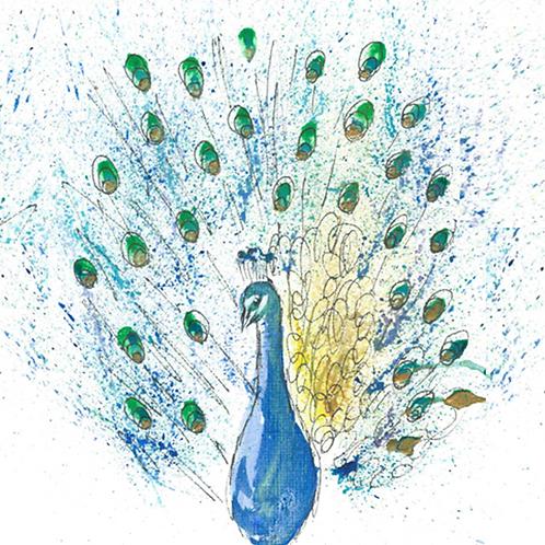 Peacock - Plain Card