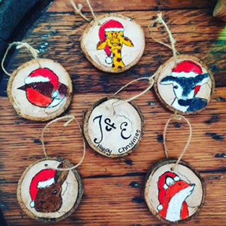 Hand Painted Wood Slices