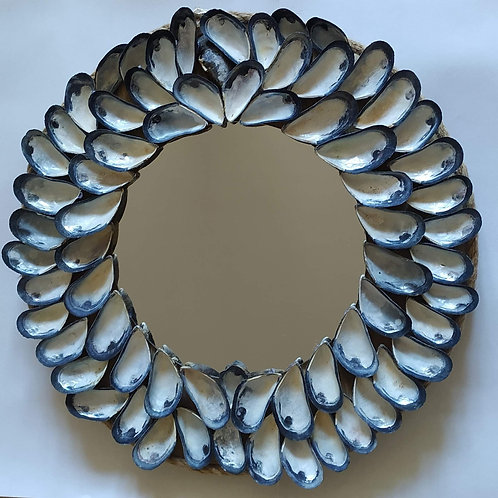 Mussel Shell Mirror
