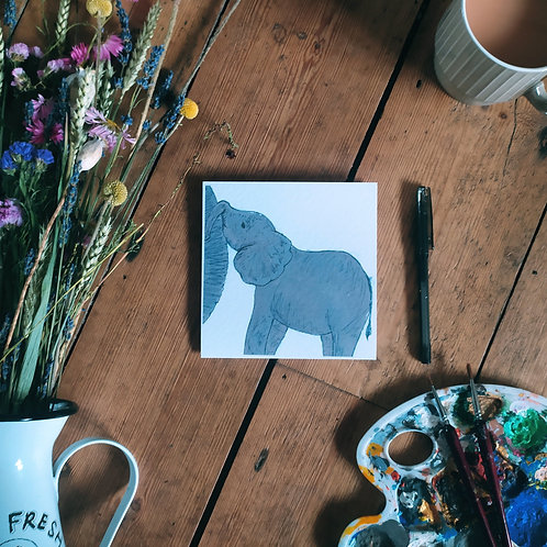 Mothers Day Card - Elephant