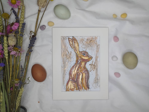 Abstract Easter bunny