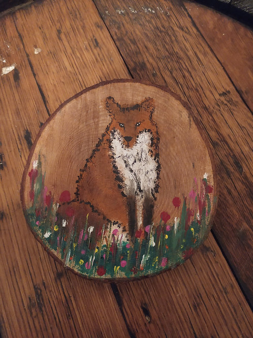 Fat Fox Wood Slice