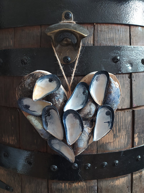 Mussel Shell Hearts