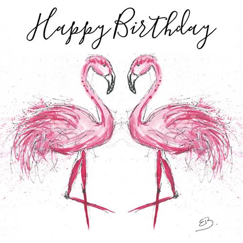 Flamingo - Happy Birthday