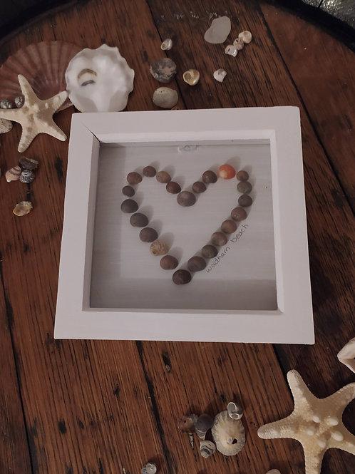 Seashell Heart Box Frame