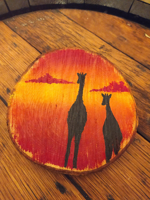 African Sunset Wood Slice