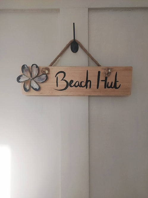 Beach Hut Sign