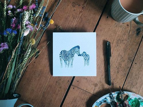 Mothers Day Card - Zebra