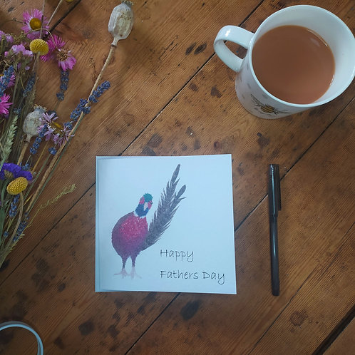 Pheasant fathers day card