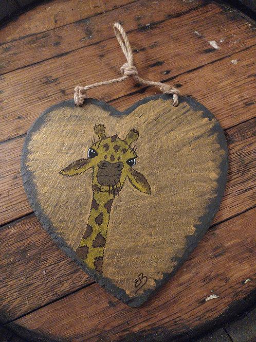Giraffe Slate Heart