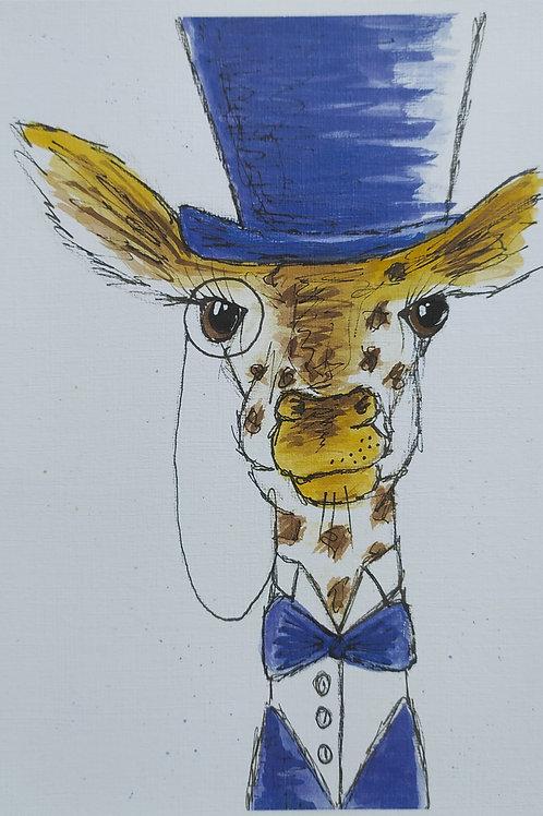 Giraffe Top Hat Print