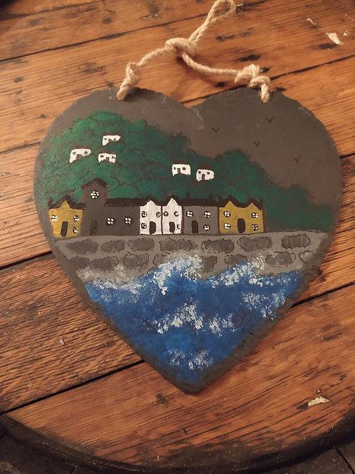 Seaside Village on Slate Heart