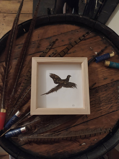 Pheasant Feather Box Frame