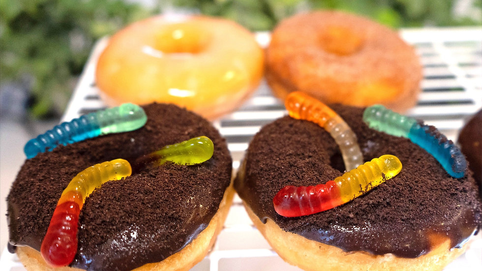 Dirt & Gummy Worms Donut