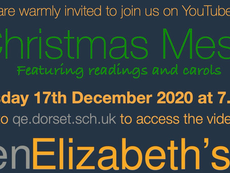 Join us for our QE Christmas Message - Thursday 17th December at 7.15pm