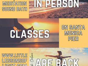 LIVE in-person classes are back
