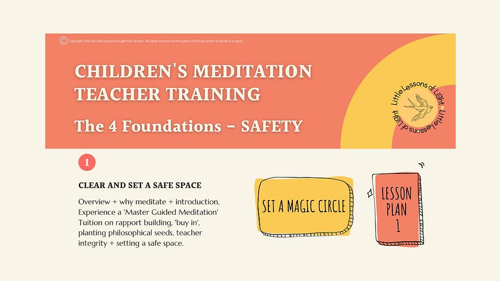 LLOL KIDS MEDITATION TEACHER TRAINING SE