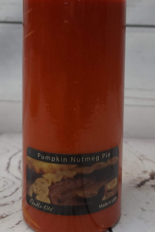 "3""x6""PILLAR PUMPKIN NUTMEG PIE"