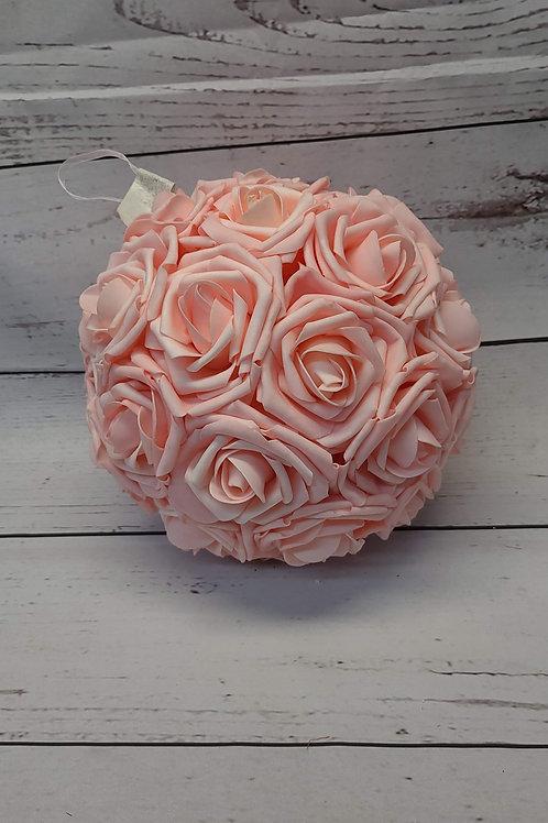 "10"" FOAM ROSE KISSING BALL"