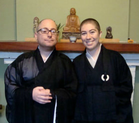 ev. Michaela O'Connor Bono and Rev. Koji Dreher are the resident priests and co-leaders of the Mid City Zen sangha in New Orleans. They have been practicing Zen for almost ten years, having done most of their monastic training at Tassajara Zen Mountain Center and Green Gulch farm, which are part of the San Francisco Zen Center. Rev.Koji was ordained in 2008 and Rev. Michaela took ordination in 2010. Rev. Michaela is involved in prison meditation and chaplaincy work and she is on the Board of Sakyadhita USA, a branch of the International Association of Buddhist Women.