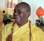 """Ven. Suhita Dharma, Mahathero (May 4, 1941- December 28, 2013), called """"Bhante"""" by his students, was a well-known senior Buddhist bhikkhu ordained in the three lineages: Mahayana, Theravada, and Vajrayana. He was the first African American to be ordained a Buddhist monk; he was ordained by the late Ven. Thich Thien An, the first Vietnamese Buddhist master to come to Los Angeles. Bhante worked to Mexico at the end of his life; on a pilgrimage to pay respects to the ancient deities of the indigenous peoples of Mexico, praying to ask permission for the establishment of a Buddhist center in Mexico at the request of the Mayans, Yaquis, Tarahumaras, Pimas, and Aztecs, and to meet with the shamans in those traditions. A longtime social justice activist and social worker, Bhante began working with Indo-Chinese refugees entering the U.S. in 1975 and worked with homeless persons, people with HIV/AIDS, and formerly incarcerated people. Bhante taught compassion meditation for everyday life and practice for those who are working with people in different communities, emphasizing a one-to-one approach as well as introducing students to the practice of Kalyanamitta (spiritual friend) and helping those who are within the sea of samsaric suffering."""