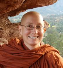 Amma Thanasanti Bhikkhuni started meditating in 1979. From that time she consciously committed to awakening and envisioned living her life as a nun. She joined the Ajahn Chah lineage and community of nuns living at both Amaravati and Chithurst Buddhist Monasteries in England where she received higher ordination. After 20 years, she returned to the U.S. as an independent nun and was then ordained as a Bhikkhuni. She founded Awakening Truth whose mission is to use Forest Tradition teachings in conjunction with depth psychology and relational practices to support integration and engagement along side awakening. She blends rigor with gentle loving encouragement to find your own way - finding a balance between fierce holding of the Dhamma and compassion, tenderness, humor and empowerment.