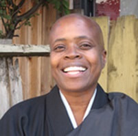 Rev. Zenju Earthlyn Manuel, Ph.D., is an author and ordained Zen Buddhist priest since 2008. She will receive shiho or full dharma transmission by Zenkei Blanche Hartman in January 2016. Zenju Earthlyn Manuel combines Zen meditation, intuitive knowing, and indigenous ritual in a path of liberation. She is the guiding teacher of Still Breathing Zen Meditation Center in East Oakland. She is the author of Tell Me Something about Buddhism with a foreword by Thich Nhat Hanh and her most recent book is the bestselling, The Way of Tenderness: Awakening Through Race, Sexuality, and Gender, that explores the nature of embodiment within a boundless life. More information at zenju.org.