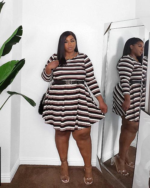 Earning Stripes Dress