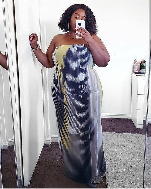 Fashion Nova Printed Maxi Dress 2X